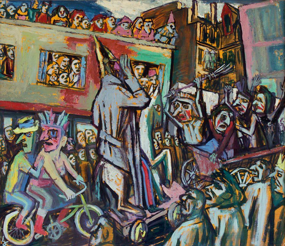 """Karl Hubbuch, """"Ludowy karnawał"""", 1953 (źródło: materiały prasowe organizatora)"""