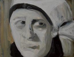 """Katarzyna Szumska, """"Zakonnica"""", 2012, olej na płótnie, 30×40 (źródło: materiały prasowe organizatora)"""