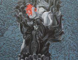 """Małgorzata Wielek-Mandrela, """"Ptakolud"""", 2009, 200x150 cm (źródło: materiały prasowe organizatora)"""