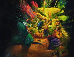 """Marcin Zawicki, Bez tytułu z serii """"sporysz"""", 2014, olej na płótnie, 170 x 150 cm (źródło: materiały prasowe organizatora)"""
