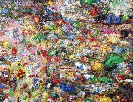 """Marta Antoniak, """"Apokalipsa II"""", 2013, akryl / plastik na płótnie, 160 x 100 cm (źródło: materiały prasowe organizatora)"""