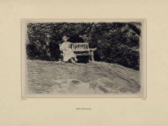 """Max Liebermann, """"Ławka ogrodowa"""", 1916, fot. © Muzeum Narodowe w Gdańsku (źródło: materiały prasowe organizatora)"""
