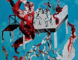 Stanisław Szumski, Bez tytułu, 2015, akryl na płótnie, 180×180 cm (źródło: materiały prasowe orgnizatora)