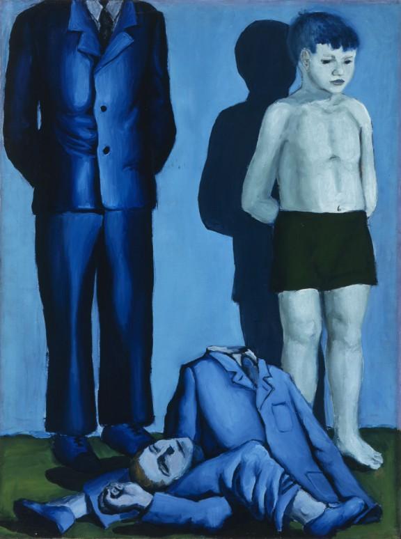"""Andrzej Wróblewski, """"Rozstrzelanie z chłopczykiem"""", 1949, Muzeum Narodowe w Poznaniu (źródło: materiały prasowe organizatora)"""