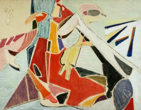 """Marian Jarema, """"Zwierzęta"""", 1948, Muzeum Narodowe w Poznaniu (źródło: materiały prasowe organizatora)"""