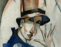 """Béla Kádár, """"Klaun"""", 1921, Janus Pannonius Múzeum (źródło: materiały prasowe organizatora)"""