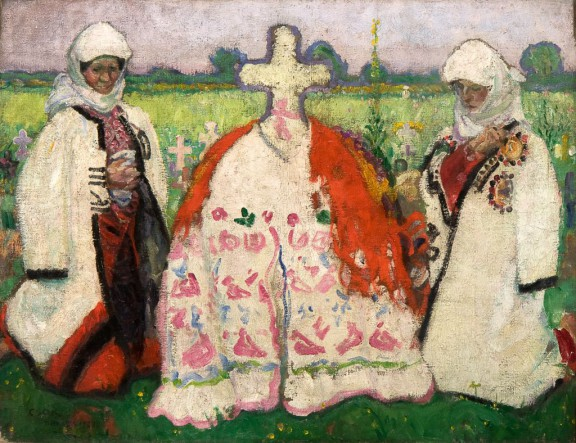 """István Csók, """"Šokacki pogrzeb"""", 1909, Janus Pannonius Múzeum (źródło: materiały prasowe organizatora)"""