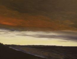 """Jarosław Modzelewski, """"Światła w zatoce"""", 120x180, 2016 (źródło: materiały prasowe organizatora)"""