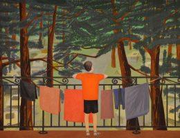 """Jarosław Modzelewski, """"Chłopiec na tarasie"""", 180x240, 2010 (źródło: materiały prasowe organizatora)"""