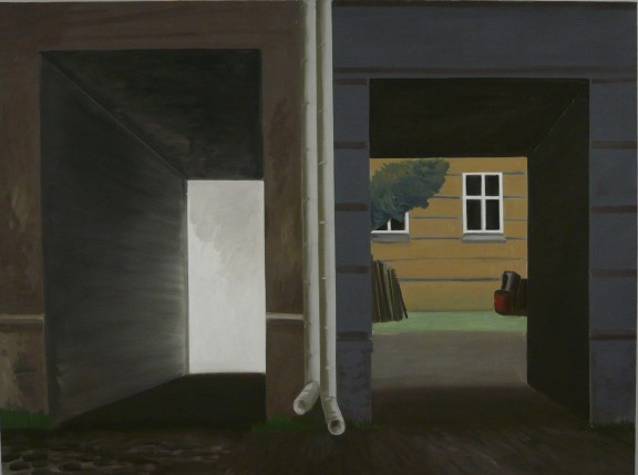 """Jarosław Modzelewski, """"Dwie bramy"""", 150x200, 2013 (źródło: materiały prasowe organizatora)"""