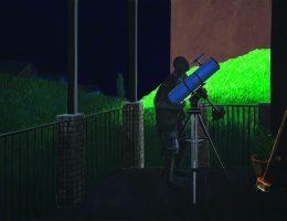 """Jarosław Modzelewski, """"Amator astronomii"""", 180x240, 2007 (źródło: materiały prasowe organizatora)"""
