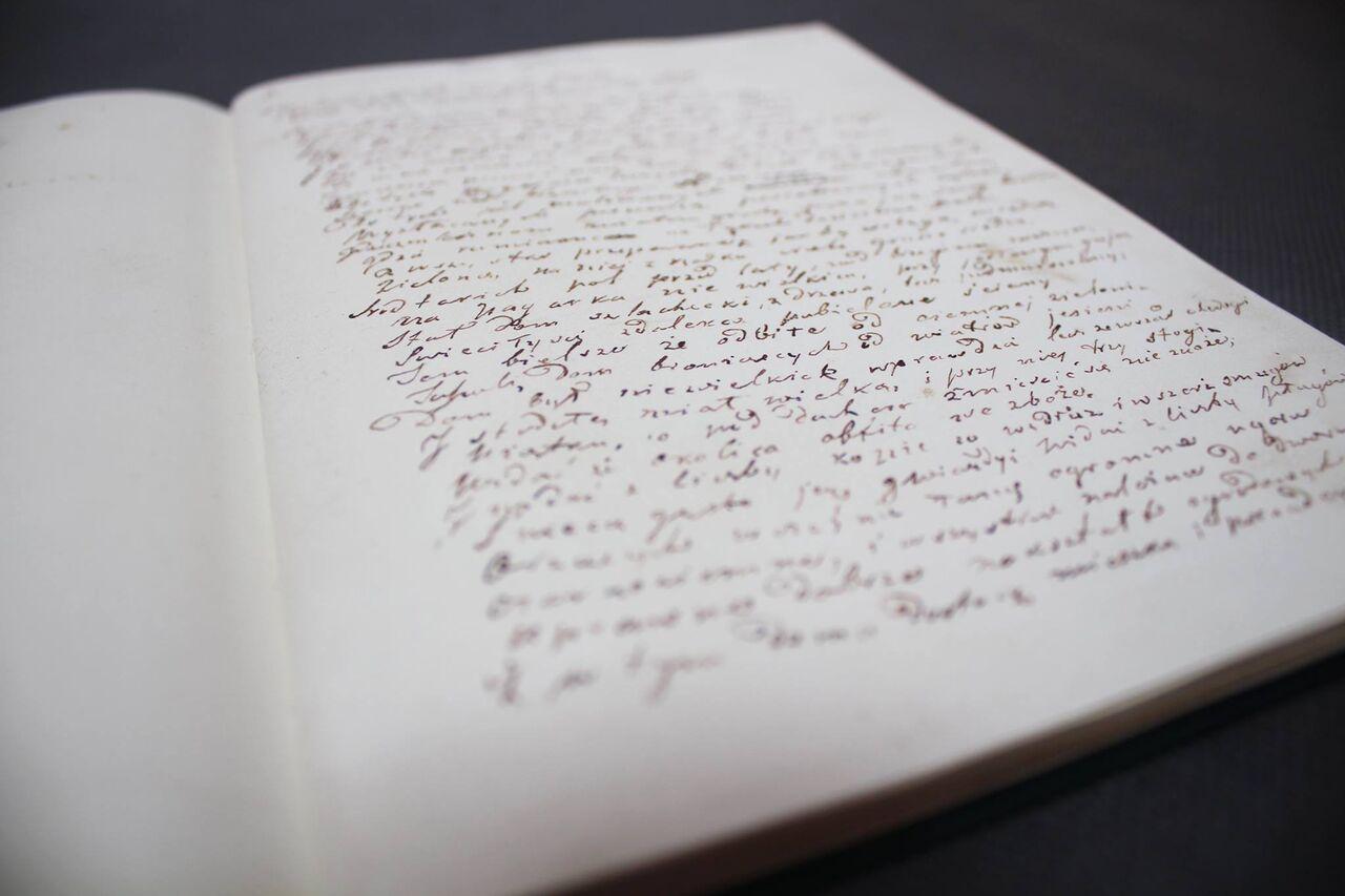 """Rękopis """"Pana Tadeusza"""", fot. Adriana Myśliwiec (źródło: materiały prasowe organizatora)"""