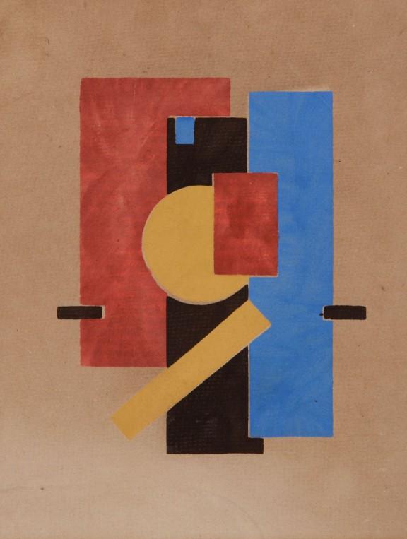 "Sándor Bortnyik, Ilustracja do czasopisma ""MA"", 1921, Janus Pannonius Múzeum (źródło: materiały prasowe organizatora)"