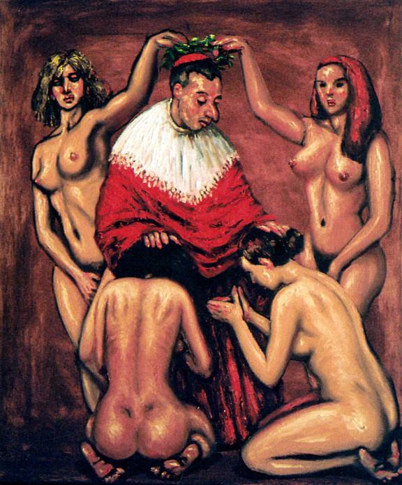 Aleksandar Stankoski, Kardynał, 65x55 cm, olej na płótnie, 2003 (źródło: materiały prasowe organizatora)