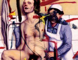 Aleksandar Stankoski, Pacjent, 100x80, olej na płótnie, 1989 (źródło: materiały prasowe organizatora)