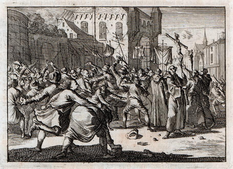 """""""Gwałtowne zamieszki"""", przedstawienie tumult na tle religijnym jaki miał miejsce w Gdańsku w 1678 roku. Ze zbiorów Westpreußisches Landesmuseum w Warendorfie (źródło: materiały prasowe organizatora)"""