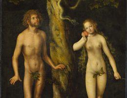 """Lucas Cranach st., """"Adam i Ewa"""", ok. 1510, Muzeum Narodowe w Warszawie (źródło: materiały prasowe organizatora)"""