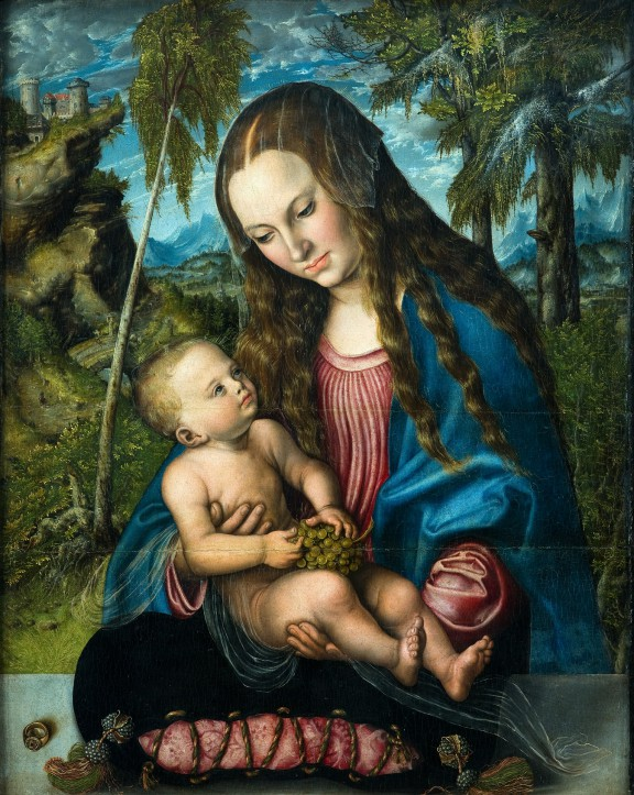 """Lucas Cranach st., """"Madonna pod jodłami"""", ok. 1510, Muzeum Archidiecezjalne we Wrocławiu (źródło: materiały prasowe organizatora)"""