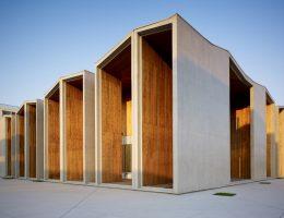Projekt: Budynek usługowy dla studentów na nowym kampusie Pekińskiego Uniwersytetu Inżynierii Lądowej i Architektury, Studio: Hu Yue Studio (źródło: materiały prasowe organizatora)