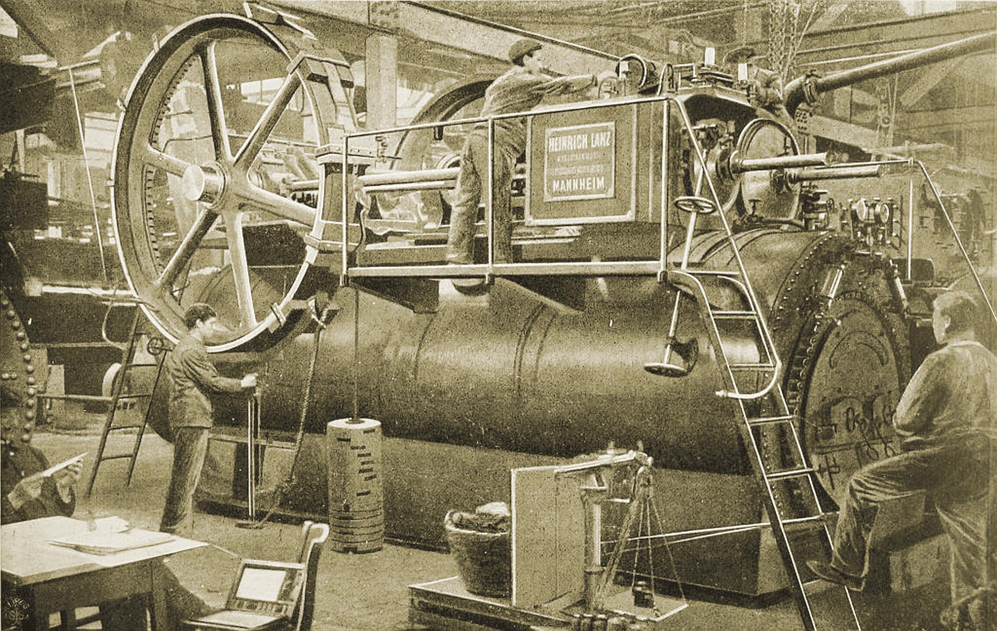 Lokomobila firmy H.Lanz Mannheim – końcowy montaż (źródło: materiały prasowe)