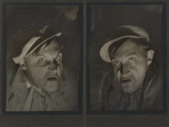 """Stanisław Ignacy Witkiewicz, """"Drań którego dotąd nie byloi wątpliwem jest czy będzie"""". Z serii Scen Improwizowanych, Zakopane, Styczeń 1932 (fotografia autorstwa Władysława Jana Grabskiego) (źródło: materiały prasowe organizatora)"""