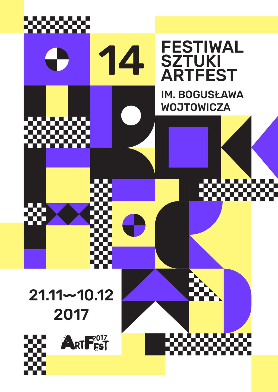 Plakat 14. Festiwalu Sztuki ArtFest im. Bogusława Wojtowicza (źródło: materiały prasowe)