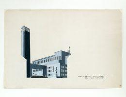 Bohdan Lachert, Józef Szanajca i Lech Niemojewski, projekt konkursowy kościoła św. Rocha w Białymstoku, 1926, Muzeum Architektury we Wrocławiu (źródło: materiały prasowe organizatora)