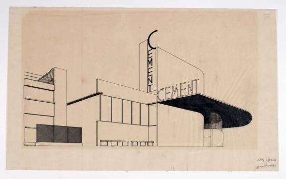 Bohdan Lachert i Józef Szanajca, projekt pawilonu budownictwa na Powszechną Wystawę Krajową, 1928, Muzeum Architektury we Wrocławiu (źródło: materiały prasowe organizatora)