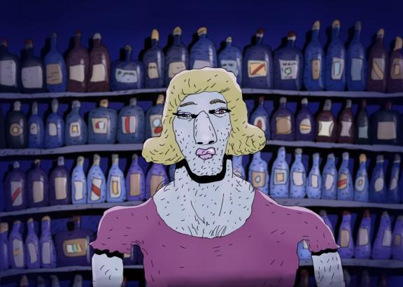 """""""Bartender"""", reż. Bill Plympton (źródło: materiały prasowe organizatora)"""