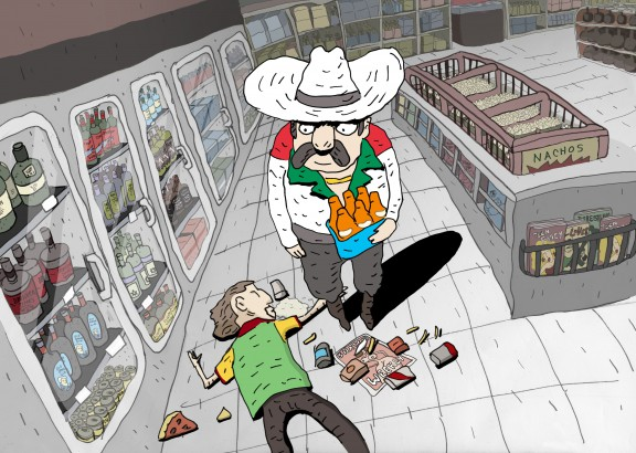 """Convenience Store"", reż. Bill Plympton (źródło: materiały prasowe organizatora)"