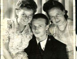 Edward Kubiczek z siostrą Bożeną i przyszłą żoną Michaliną Hochberg, przed 1939, wł. prywatna (źródło: materiały prasowe organizatora)