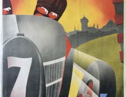 Międzynarodowy Wyścig Okrężny we Lwowie, 1931, 95,3 x 63. Muzeum Etnografii i Przemysłu Artystycznego we Lwowie (źródło: materiały prasowe organizatora)