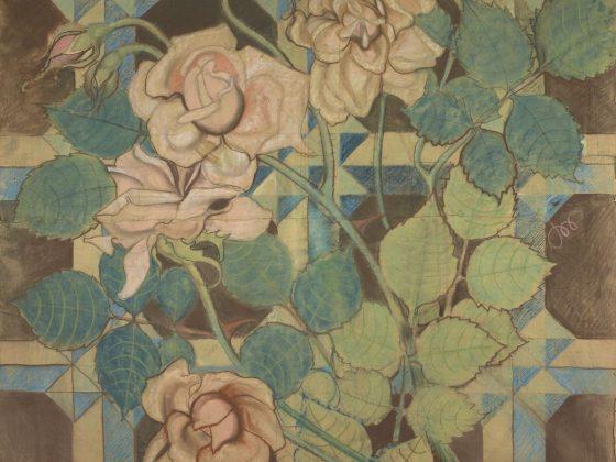 """Stanisław Wyspiański, """"Róże. Projekt dekoracji malarskiej do kościoła Franciszkanów w Krakowie"""", 1897 (źródło: materiały prasowe organizatora)"""