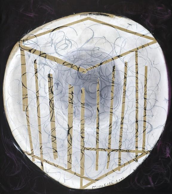 Eugeniusz Minciel, Transfer, akryl na płótnie, 210 x 187 cm, 2008 (źródło: materiały prasowe organizatora)