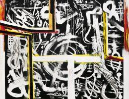 Eugeniusz Minciel, Bez tytułu, akryl na płótnie, 200 x 175 cm, 2016 (źródło: materiały prasowe organizatora)