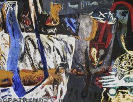 Eugeniusz Minciel, Opatrzność, płótno akryl, 162 x 270 cm, 1995 (źródło: materiały prasowe organizatora)