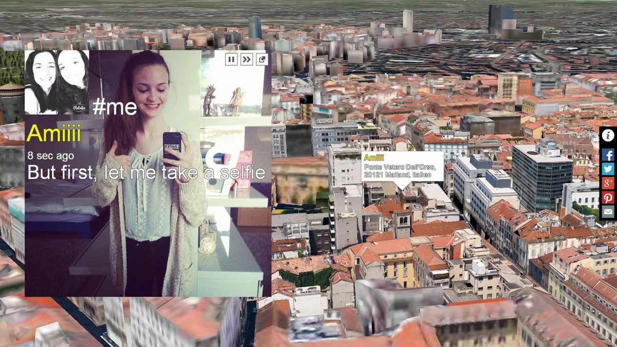 """Marca Lee, """"Ja"""", interaktywna instalacja sieciowa, 2015 (źródło: materiały prasowe organizatora)"""