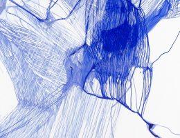 Urszula Wilk, Seria Bluemetrie nr 21, płótno, akryl, olej, 200 x 175 cm, 2017 (źródło: materiały prasowe organizatora)