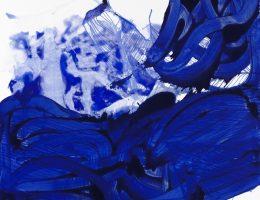 Urszula Wilk, Seria Bluemetrie nr 12, płótno, akryl, olej, 200 x 175 cm, 2016 (źródło: materiały prasowe organizatora)
