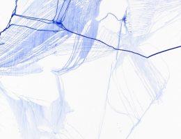 Urszula Wilk, Seria Bluemetrie nr 29, płótno, akryl, olej, 200 x 175 cm, 2017 (źródło: materiały prasowe organizatora)