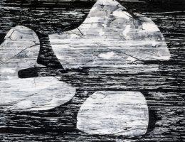 Urszula Wilk, Seria Linie, płótno, akryl, olej, 200 x 175 cm, 2014–2015 (źródło: materiały prasowe organizatora)