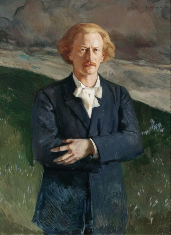 """Charles Giron, """"Portret Ignacego Jana Paderewskiego"""", 1907, olej, płótno, 119,5 x 92 cm, fot. Piotr Ligier, Muzeum Narodowe w Warszawie (źródło: materiały prasowe)"""