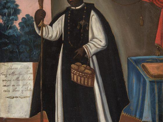 """""""Święty Marcin de Porrès"""", autor nieznany XIX w., © Colección Barbosa-Stern (źródło: materiały prasowe organizatora)"""