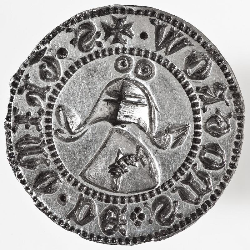 Srebrny tłok herbowej pieczęci Thimona von Smogrow, XIV w. (źródło: materiały prasowe organizatora)