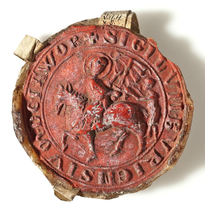 Pierwsza ogólnomiejska pieczęć Jawora z ok. 1300 roku (źródło: materiały prasowe organizatora)