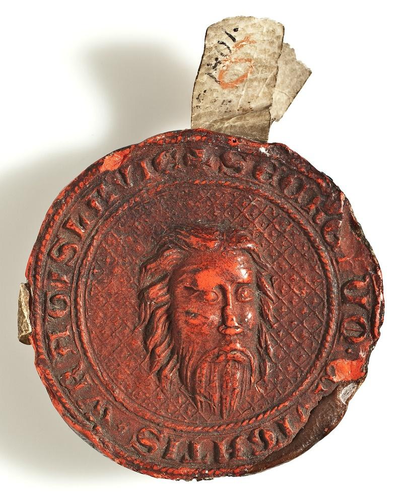 Wrocławska pieczęć sekretna, odcisk z 1401 roku wykonany tłokiem z 1343 roku (źródło: materiały prasowe organizatora)