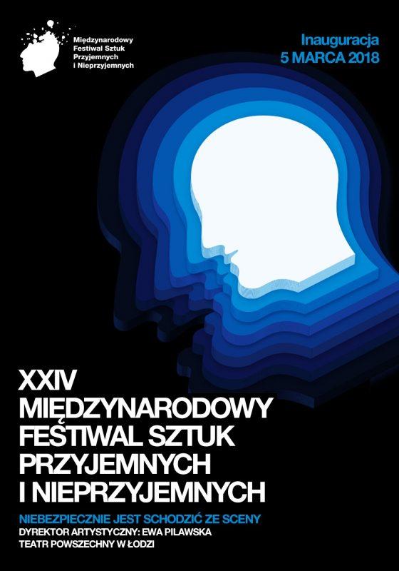 Plakat XXIV Międzynarodowego Festiwalu Sztuk Przyjemnych i Nieprzyjemnych (źródło: materiały prasowe organizatora)