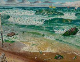 Bronisław Wojciech Linke, Ustka – morze, 1952–54 (źródło: materiały prasowe organizatora)