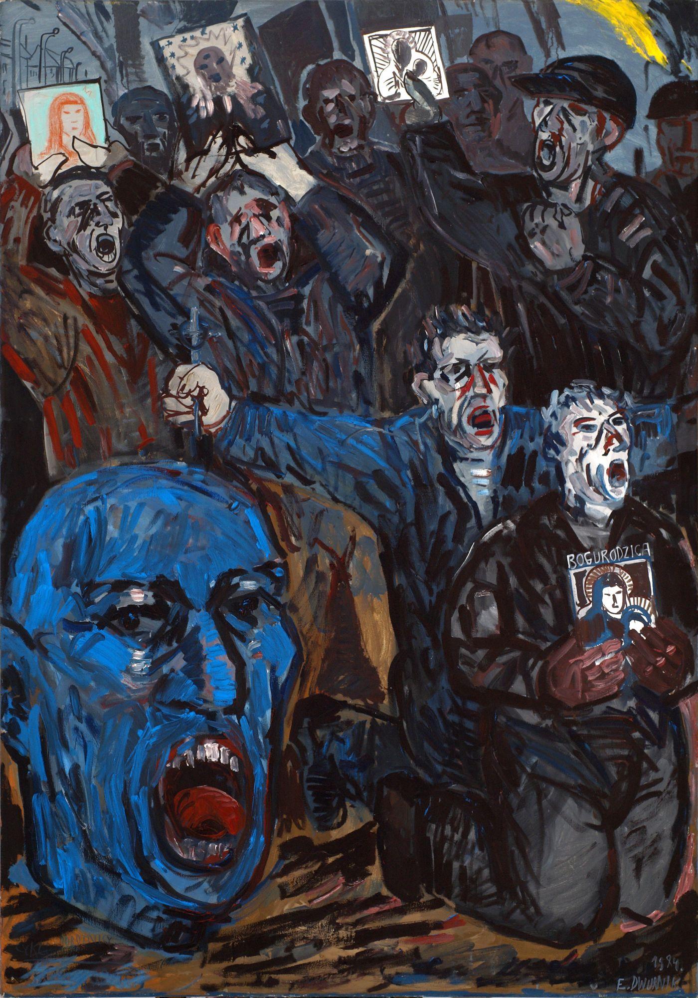 Edward Dwurnik, Bogurodzica, 1984 (źródło: materiały prasowe organizatora)