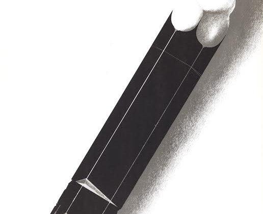 """Ryszard Kuba Grzybowski """"Drawing and Graphics"""" plakat wystawy, 1976 (źródło: materiały prasowe organizatora)"""